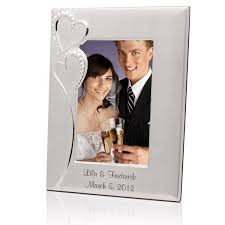 personalize wedding gifts wedding silver 4x6 picture frame