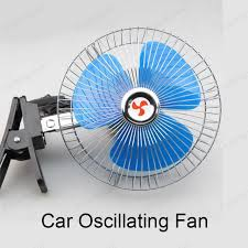 6 inch oscillating fan 6 inch 12v 25w oscillating auto car fan mini electric fan