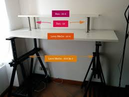 mon bureau fantaisie ikea bureau debout 280239 standing desk mon hack e280a2