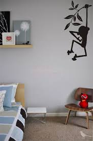 monkey hanging on branch kids playroom nursery wall decal vinyl