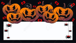 happy halloween vector happy halloween header or invitation card royalty free cliparts