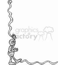 royalty free halloween mummy border 144935 vector clip art image