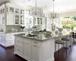 Kitchen Design Pictures Beautiful White Kitchen Design With Amazing Lighting And Black
