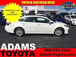 certified used toyota avalon used toyota avalon toyota