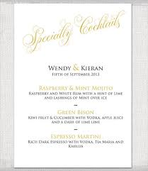wedding bar menu template 9 wedding menu designs templates free premium templates