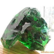 natural clear color green slag glass rock for garden landscaping