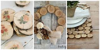 wood slice crafts rustic and decorating ideas 17 photos loversiq