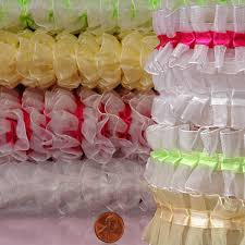 ruffle ribbon sheer ruffle ribbon shop with paper mart today