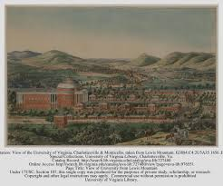 Map Of Charlottesville Va Maps And Engravings Of The Academical Village Jefferson U0027s