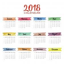 Gambar Kalender 2018 Lengkap 2018 Calendar Vectors Photos And Psd Files Free