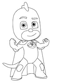 gekko pj masks coloring free printable coloring pages