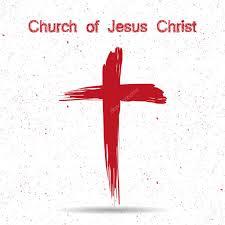 church of jesus christ logo cross painted brushes u2014 stock vector