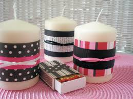 kids craft decorated candles and matches mothers day project