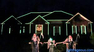 Scary Halloween Skeleton 2015 Halloween Light Show Spooky Scary Skeletons The Living