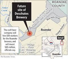 Roanoke Virginia Map by Deschutes To Build Brewery In Roanoke Business Roanoke Com