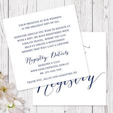 the gift registry navy and white modern wedding gift registry or wishing well card