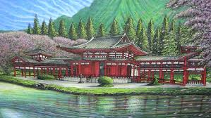 Japanese Temple Interior Temple Time Lapse Drawing Youtube