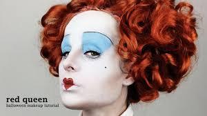 red queen alice in wonderland halloween makeup tutorial by