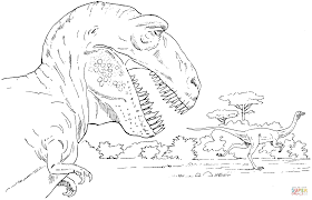 tyrannosaurus and rex coloring page free printable coloring pages