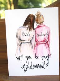invitations for bridesmaids etsy find adorable and affordable cards for your bridesmaids