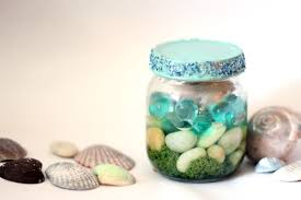 beach in a jar seashell keepsake craft moms and crafters