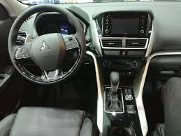 mitsubishi crossover interior 2018 mitsubishi eclipse cross at the dubai international motor