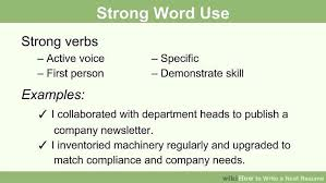 Resume First Person How To Write A Neat Resume 13 Steps With Pictures Wikihow