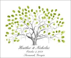 wedding tree guest book thumbprint tree flyoung studio