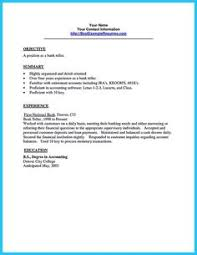 Sample Banker Resume by Cool Learning To Write From A Concise Bank Teller Resume Sample