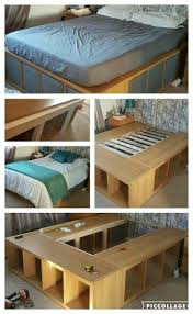 diy platform bed with storage ikea storage decorations