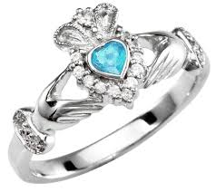 claddagh rings meaning aquamarine diamond silver claddagh ring march birthstone