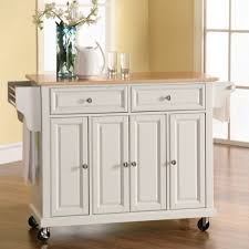 Spice Rack Countertop Bathroom White Kitchen Cart With Light Wooden Countertop And