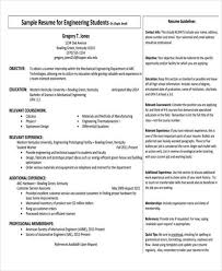 Mechanical Engineering Resume Samples by 31 Professional Engineering Resume Templates Free U0026 Premium