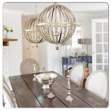 Beaded Wood Chandelier Wood Bead Chandelier Aged Wooden Beaded Big Chandelier Hand Made