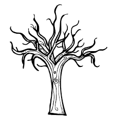 winter tree coloring pages