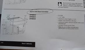 how to install kraftmaid base cabinets diwyatt adjusting the apron sink base before installation