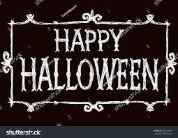 halloween card creepy framework letters drawing stock illustration