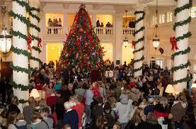 Christmas Tree To Decorate Homestead U0027s Great Hall Christmas Tree Tradition