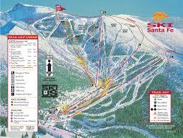 Map Of Santa Fe New Mexico by Santa Fe Ski Area Map Santa Fe Pinterest Area Map Santa Fe