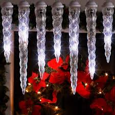 shooting star icicle lights gemmy lightshow led shooting star icicle christmas lights 10 count