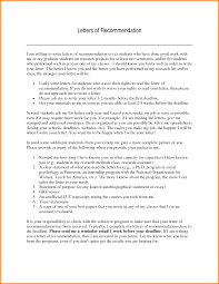 ideas of a good recommendation letter for phd student also letter
