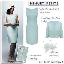 light blue shift dress and jacket petite occasion