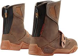 street riding boots mens icon brown raiden treadwell leather motorcycle riding street