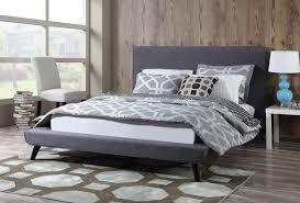 nixon platform bed grey linen tov furniture modern manhattan