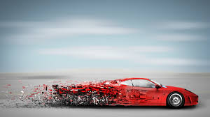 ferrari wall art digital art sports car red cars clouds horizon ferrari