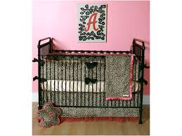 Pink Cheetah Crib Bedding Baby Cheetah Crib Bedding Home Inspirations Design
