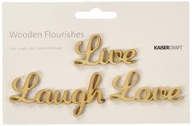 amazon com wood flourishes words live laugh love