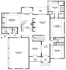 5 bedroom 4 bathroom house plans 5 bedroom 4 bath rectangle floor plan ideal rectangular house