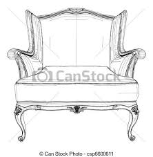 Clipart Armchair Vector Clip Art Of Antique Armchair Vector Csp6600611 Search