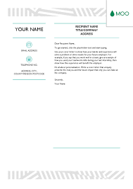 creative cover letter designed by moo office templates